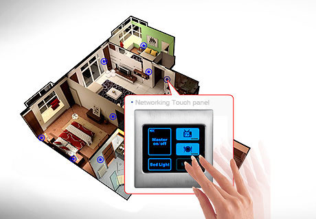 Intelligent networking touch panel